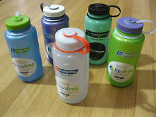Nalgene BPA Free 32 Ounce Wide Mouth Water Bottles - 5 Different Colors - NEW