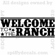 WELCOME TO THE RANCH COWBOY COWGIRL Quote Vinyl Wall Decal Decor Sticker Art NEW
