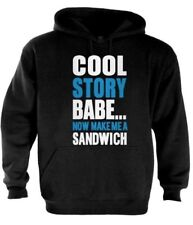 Cool Story Babe Hoodie jersey Shore block make me a sandwich tell it again blue