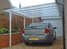 CARPORT CANOPY LEAN TO, COMPLETE KIT, VARIOUS  SIZES, 10mm POLYCARBONATE
