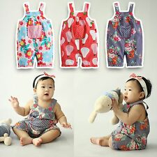"Vaenait Baby Newborn Girl's Bottom Dungarees Pants ""Flower Overalls"" 3M-18M"