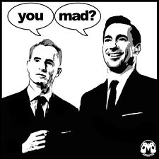 YOU MAD, MEN? shirt (tv mad men meme amc roger sterling don draper parody 50s)