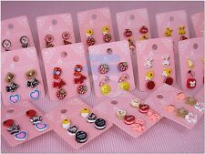 Wholesale Lot of 3 Color Cute Fashion Stud Studs Earrings for Teen Girls Women