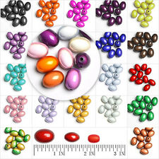 Free Ship Fashion Acrylic Oval Miracle Beads Spacers Fit Necklace Bracelet
