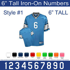 "6"" Tall Iron-On Number for Sports Jersey T-Shirt (Single Numbers 0-9) Style #1"