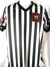 WWE Logo Referee Shirt New Adult Sizes S-3XL