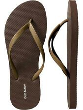 NWT Ladies FLIP FLOPS Old Navy Thong Sandals BRONZE Shoes SIZE 7,8,9,10,11