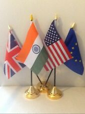 TABLE - DESK - RECEPTION FLAGS & STANDS, CHEAP PRICES, UK SELLER, QUICK DISPATCH