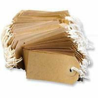 1000 x Quality Strung Tags Reinforced Rings Luggage Labels String Tie On Gift