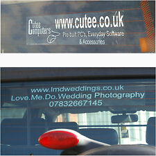 Advertising Window Stickers-Car,Van,Truck-Business,Company,Service,Club-Promote