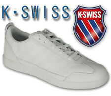 Mens Trainers K Swiss Lace Up Shoes Leather Walking Jogging Casual White New