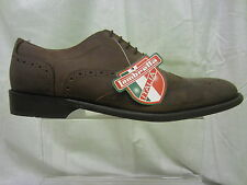 Mens Lambretta Lace Up Brogue Shoe, Waxy Brown Leather, 3357