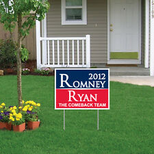 "Romney Ryan 2012 Sign/Magnet Combo 18""x24"" Yard Sign with Stakes and Bumpe"