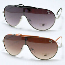 Sporty Shield Aviator Sunglasses Unisex Metal Hunter Style DG Eyewear New