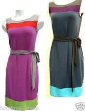 NWT Banana Republic Colorblock Belted Sleeveless Knee Length Stretch Dress