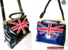 LADIES UNION JACK PRINT RETRO HANDBAG TOTE SATCHEL SHOULDER BAG BRITISH FLAG VTG