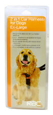 "RAC 2in1 DOG CAR SAFETY & WALKING HARNESS FITS ANY SEAT BELT SIZES 12-42"" CHEST"