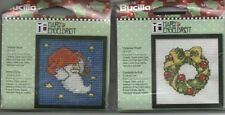 Cross Stitch Kit Mary Engelbreit Mini Frame Project Bucilla Christmas NEW