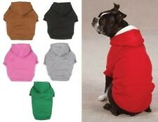 FLEECE DOG HOODIE Double Layer Pet Sweatshirt Zack & Zoey Hooded Coat 6 Colors