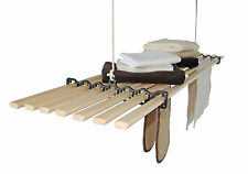 7 LATH Gismo Pulley Kitchen Maid Clothes Airer / Hanging Shelf Rack