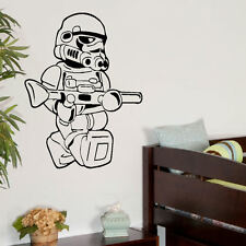 LARGE STAR WARS LEGO MEN STORM TROOPER BEDROOM WALL ART STICKER TRANSFER DECAL