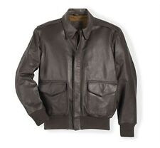 U.S.A.F First Reissue A-2 Since 1943 Jacket LONG Brown Goatskin Leather USA Made