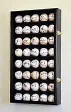 40 Ball Baseball / Hockey Display Case Cabinet Rack Wall Holder
