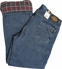 Dickies  DD217SNB  Flannel Lined Relaxed Straight Fit  Stone Wash   W 30 to W 44