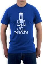 KEEP CALM AND CALL THE DOCTOR T-Shirt Who Cult TV Series Funny cool humor new
