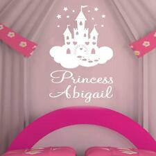Personalised Fairy Princess Castle Wall Stickers