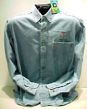 GM LICENSED PONTIAC ARROWHEAD DENIM   SHIRTS