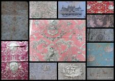 FABRIC TOILE DE JOUY ..bit different  PIECES 18 X 26 INS FRENCH SHABBY CHIC