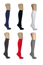 NEW LADIES KNEE HIGH POP SOCKS SOX IN ASSORTED COLOURS BACK TO SCHOOL GIRL 4-6.5