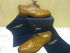 Mens Loake Lace Up Brogue Shoe, Tan Leather, Chester 2