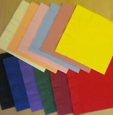 50 top quality 40cm 2 ply paper napkins Many colours