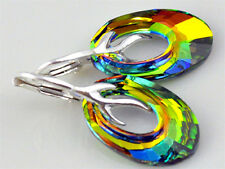 **HELIOS** - 10 COLORS ! Sterling Silver 925 Earrings with SWAROVSKI ELEMENTS