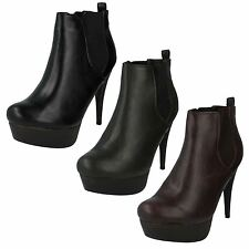 Ladies CoCO High Heel Pull On Ankle Boot 'L8627'