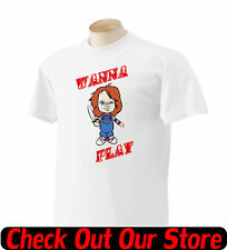 Wanna Play Chucky T Shirt Kids Toddlers Youth Shirts By Rock