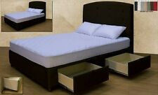 Queen Platform Storage Bed with Headboard - Upholstered Micro Fiber Hand BF11