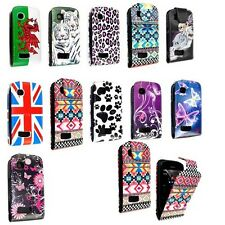 FOR NOKIA ASHA 201 STYLISH PRINTED LEATHER MAGNETIC FLIP SKIN CASE COVER