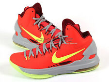 Nike Zoom KD V DMV Bright Crimson/Volt-Wolf Grey Maryland Basketball 554988-610