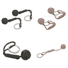 2 pcs Paracord Parachute cord knotted Monkeys Fist pendant Keyring keychain New