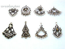 10 50pcs Antique Tibet silver Chandelier earring charm connectors jewelry markin