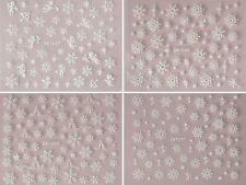 Sparkly Christmas Decoration Nail Art Stickers Snowflakes