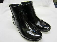 *SALE* Ladies Van Dal Waterproof Ankle Boots Black Patent Leather 'Wick'