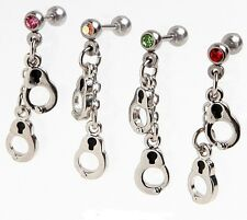 Ear Cartilage/tragus/earring 1.2mm 6mm handcuff bondage crystal choose ONLY ONE