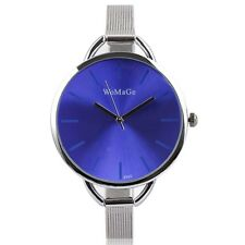 NEW FASHION OVERSIZE MIRROR FACE Women Girl Party Wrist Watch THIN ALLOY BAND