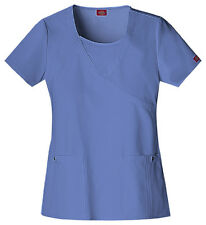 Scrubs Dickies Xtreme Stretch Mock Wrap Top 82814 Ceil FREE SHIPPING!