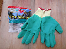 Click Gardening Gloves -multipurpose--fabric back and rubber coated front