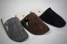 New Men's Faux Suede Shearling Inner Slip on House Slippers Shoe's size 7 - 12